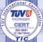 Winter-Vakuumtechnik TÜV Thüringen Zertifikat ISO 9001 TIC